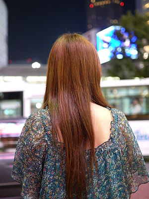 Long hair - A woman with waist length hair