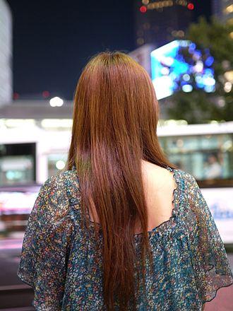 Long hair - A woman with waist length hair