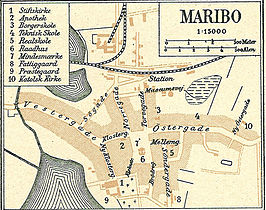Kaart van 1900 over Maribo