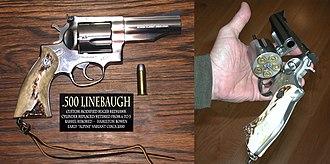 .500 Linebaugh - Image: .500 Linebaugh revolver variant