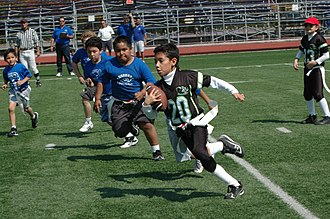 Flag football - Children playing the sport in Mexico