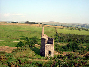 Industrial archaeology of Dartmoor - The Wheal Betsy engine house