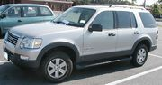A fourth-generation (2006-) Ford Explorer, the best-selling mid-size SUV in the United States.