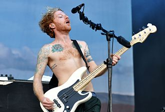 Biffy Clyro - James Johnston performing live with Biffy Clyro at Rock am Ring, 2013