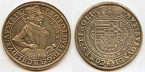 7b38814ffc LEOPOLDVS·D:G· ARCHIDVX· AVSTRIÆ Busto armato e coronato di Leopoldo con  scettro e mano sulla spada; data nel campo. DVX· BVRGVND: COMES: TYROLIS  Stemma con ...