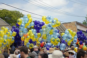 Maxine McKew - Balloons demonstrating the extent of the electioneering that occurred in Bennelong at the 2007 federal election.