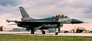 170th Fighter Squadron - Image: 170th Fighter Squadron General Dynamics F 16A Block 15L Fighting Falcon 82 0947