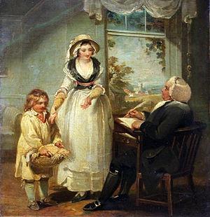Henry Singleton (painter) - The vicar receives his tithes, 1792, Städelsches Kunstinstitut