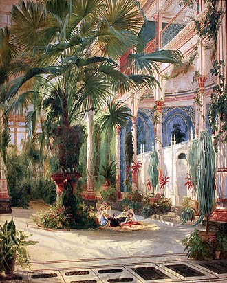 Pfaueninsel - Palmenhaus on the Pfaueninsel (by Carl Blechen, 1832-1834)