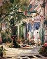 1833 Blechen Palmenhaus Pfaueninsel anagoria.JPG
