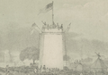 The monument as of 1840 (courtesy Cornell University)