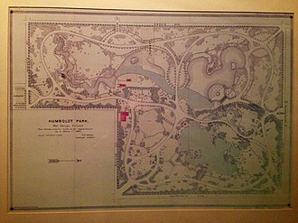 Humboldt Park, Chicago - Map of Humboldt Park showing progress made in improvements up to 1885