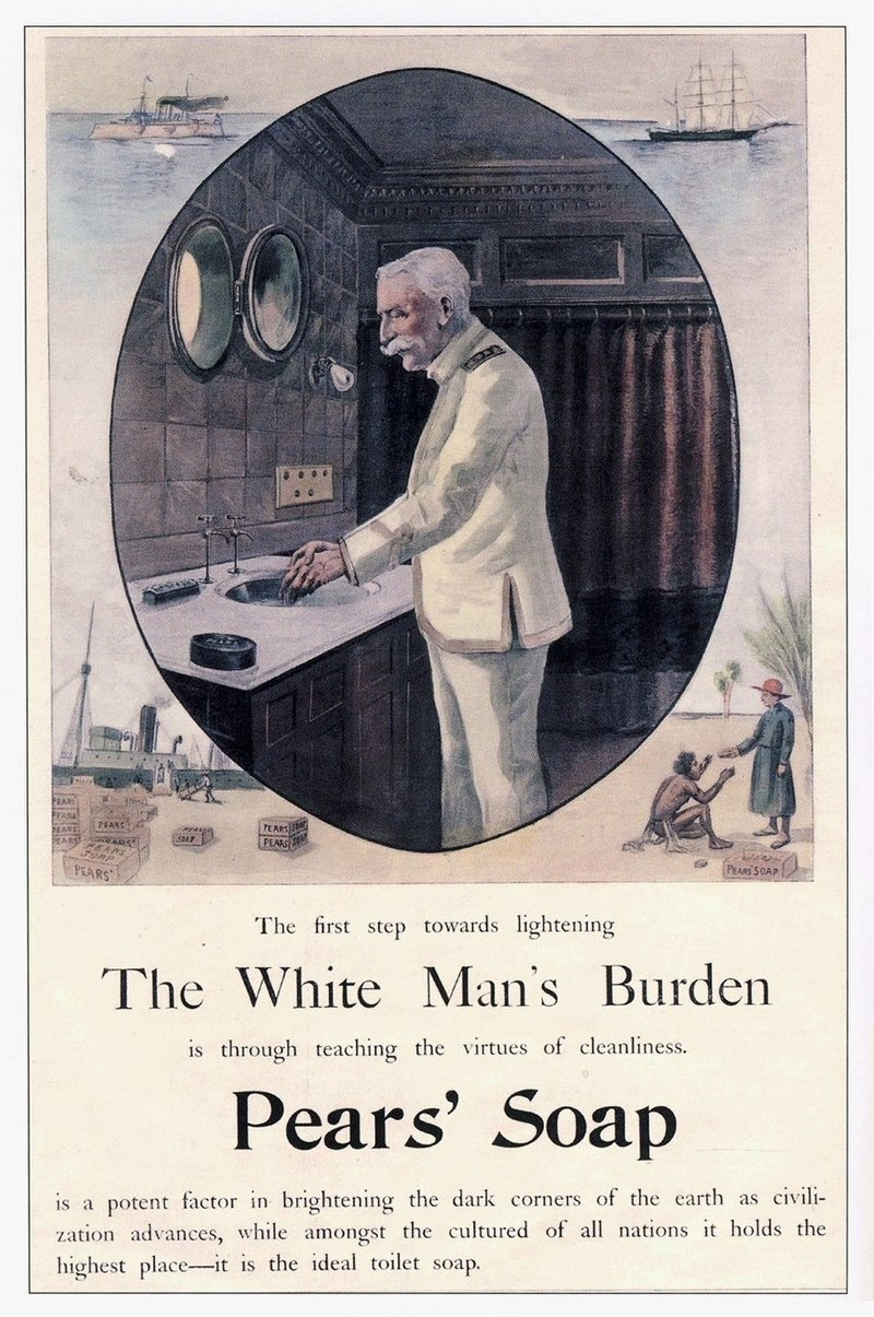 the white man s burden The real white man's burden take up the white man's burden send forth your sturdy sons, and load them down with whisky and testaments and guns and don't forget the factories.
