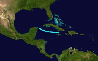 1894 Atlantic hurricane season - Image: 1894 Atlantic tropical storm 1 track
