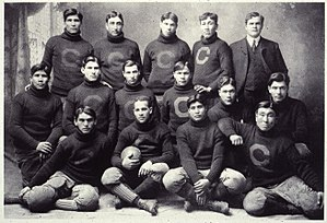 Pop Warner - 1903 Carlisle Indians, with Warner at top right