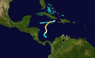 1912 Jamaica hurricane - Image: 1912 Atlantic hurricane 7 track