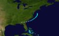 1912 Atlantic tropical storm 3 track.png