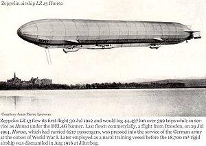 LZ 13 Hansa - Image: 1912 Hansa jpl