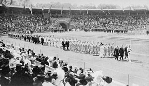 Finland at the 1912 Summer Olympics - The team of Finland at the opening ceremony.