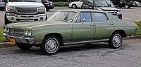 1970 Chevrolet Chevelle Malibu 4-dr, front left.jpg