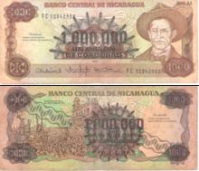 Billete De 1 000 Córdobas 1990 Sobreimpreso Sobre Sin Uso