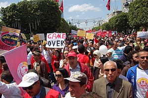 International Workers' Day - May Day rally in Tunis, Tunisia
