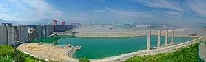 Three Gorges Dam, receiving, upstream side, 26 July 2004