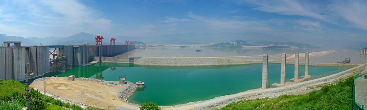 Panorama of the Three Gorges Dam