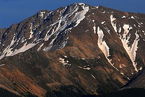 La Plata Peak - Image: 2007 06 24 plata eve close 2