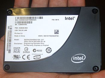 2008 Intel Developer Forum Taiwan: Intel SSD 80G.
