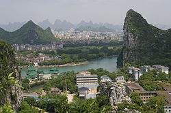 View of Li River and Elephant Trunk Hill