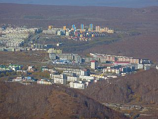 City in Kamchatka Krai, Russia