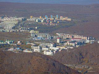 Petropavlovsk-Kamchatsky City in Kamchatka Krai, Russia