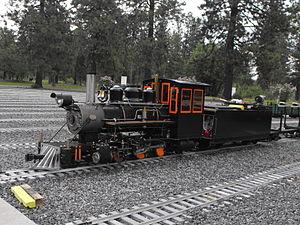 Train Mountain Railroad - Image: 20110627 Live Steamer Crisp Yard Train Mtn. 015