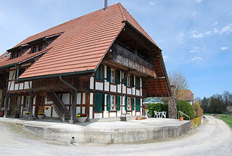 Kriechenwil - Half-timbered house in Kriechenwil
