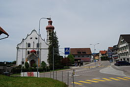 The village center of Gommiswald with the church