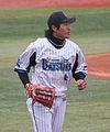 20120318 Keijiro Matsumoto, outfielder of the of the Yokohama DeNA BayStars,at Yokohama Stadium.JPG