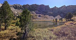 2013-09-18 13 56 28 Panorama of Castle Lake from the north end in Kleckner Canyon, Nevada.jpg