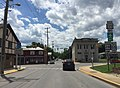 2016-06-06 14 36 41 View south along U.S. Route 220 and West Virginia State Route 28 and west along West Virginia State Route 55 (Virginia Avenue) at Main Street in Petersburg, Grant County, West Virginia.jpg