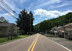 Nikep, Maryland - Image: 2016 06 18 15 07 10 View south along Maryland State Route 935 (Lower Georges Creek Road) between Nikep Street and Mine Street in Nikep, Allegany County, Maryland