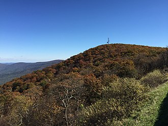 Hogback Mountain (Shenandoah National Park, Virginia) - Image: 2016 10 25 12 37 17 View east from the Hogback Overlook along Shenandoah National Park's Skyline Drive in Warren County, Virginia