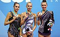 2016 Rhythmic Gymnastics World Cup Pesaro Podium.jpg
