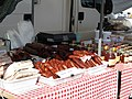 2018-02-12 Sausages, bacon, and honey for sale, Algoz market.JPG