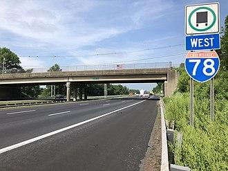 Bedminster, New Jersey - Interstate 78 in Bedminster