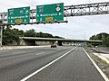2018-07-21 15 30 20 View east along Interstate 80 (Bergen-Passaic Expressway) just west of where the road divides into express lanes and local lanes in Saddle Brook Township, Bergen County, New Jersey.jpg