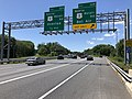 2019-06-14 14 17 47 View west along the Outer Loop of the Baltimore Beltway (Interstate 695) at Exit 32B (NORTH U.S. Route 1-Belair Road, Bel Air) in Overlea, Baltimore County, Maryland.jpg