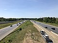 2019-06-24 11 22 41 View south along Interstate 95 and U.S. Route 17 from the overpass for Fall Hill Avenue in Fredericksburg, Virginia.jpg