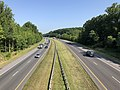 2019-07-25 09 38 17 View north along Interstate 97 (Patuxent Freeway) from the overpass for the ramp from southbound Interstate 97 to Maryland State Route 178 in Waterbury, Anne Arundel County, Maryland.jpg