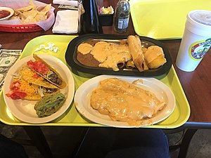 Pancho's Mexican Buffet -  A meal from 2 Amigos, almost identical to what you would get at Pancho's.