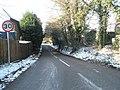 30mph sign in Rake Lane - geograph.org.uk - 1625502.jpg